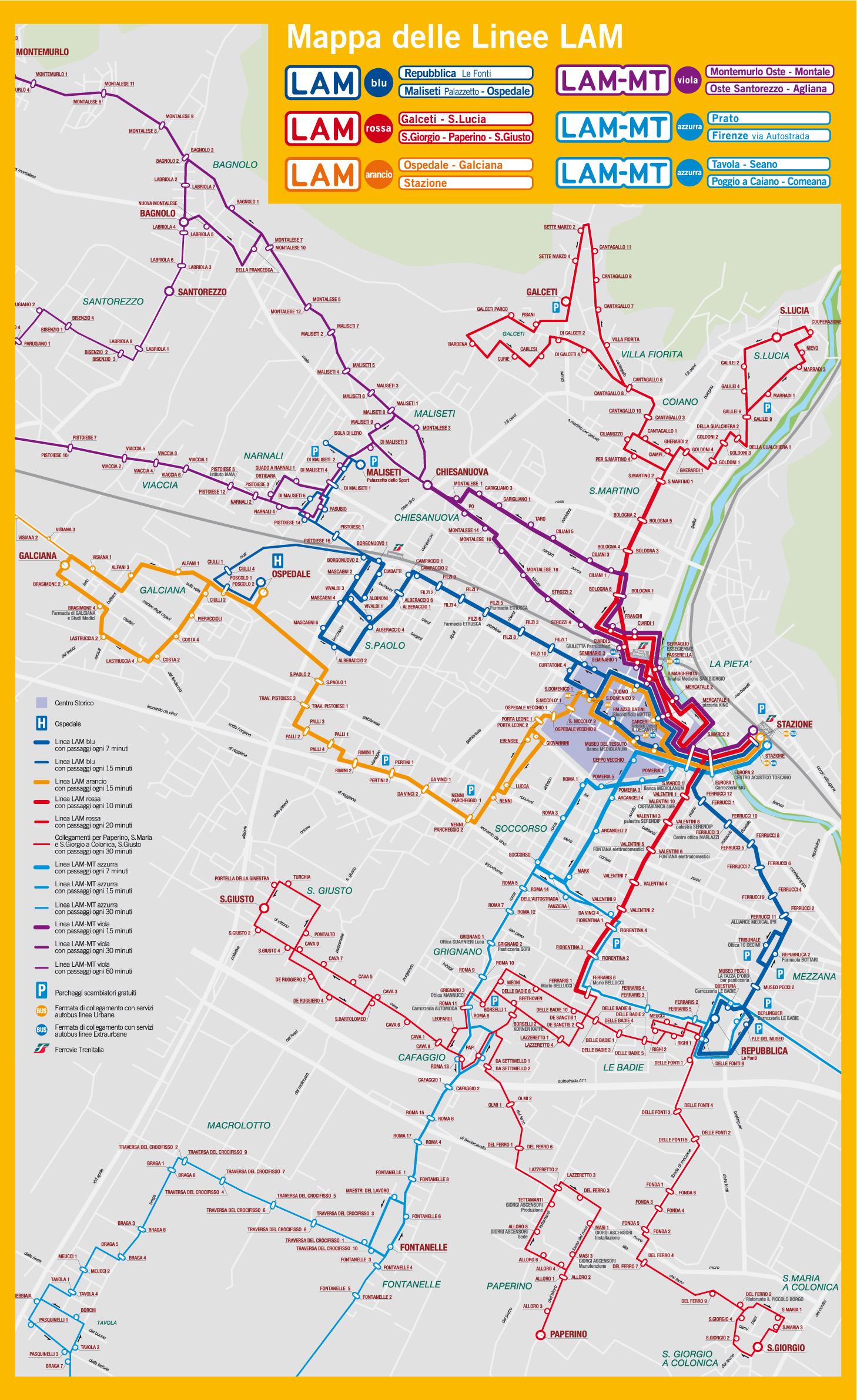 Cartina Autobus Roma.Orari Completi